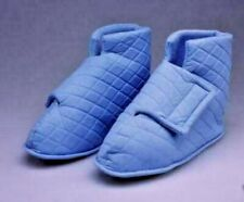 EASY ON - QUILTED PALE BLUE COMFORT SLIPPERS BOOTIES Sz 2-3 WARM & COSY  RRP £10