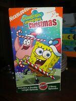 Nickelodeon SpongeBob SquarePants Christmas + 3 Merry Episodes VHS FREE SHIPPING
