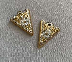 CRUMRINE Gold Plated Sterling Silver Nickel Back COLLAR TIPS;L770