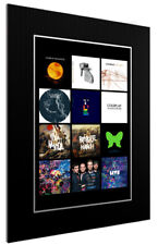 More details for mounted / framed print coldplay discography - different sizes poster gift art
