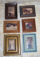 """Lot of 6 Vintage Wooden Miniature Picture Frames 5½"""" x 4½"""" & Smaller"""