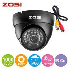 "ZOSI 1/3"" 1000TVL Caméra Dôme Surveillance Extérieure Nocturne  24 Leds IR CCTV"