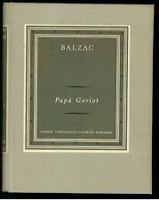 BALZAC HONORE DE PAPA' GORIOT UTET 1957 I° ED. GRANDI SCRITTORI STRANIERI IV 100