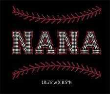 Baseball Nana / Softball Nana Iron on Rhinestone Transfer DIY