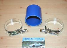 Silikonschlauch 64 mm Blau mit Schellen *NEU* Verbinder für Ladeluftrohre Turbo