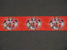 "christmas mickey minnie 1 grosgrain ribbon 7/8"" per 1 m hair scrapbooking cards"