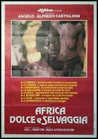 AFRICA DOLCE SELVAGGIA Manifesto Film 2F Poster Originale Cinema CASTIGLIONI