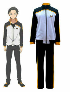 Re:Zero kara Hajimeru Isekai Seikatsu Subaru Natsuki Suit Cosplay Costume Set S1
