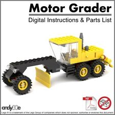 Lego MOC Motor Grader I PDF INSTRUCTIONS ONLY I Town City Construction Tractor