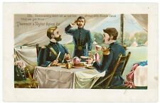 Dutch Java Advertising Card, Military Officers Dining in Tent, Thomson & Taylor