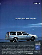 Publicité Advertising 109 1999  Volvo V 70 série spéciale  Ocean Race cd sc 805