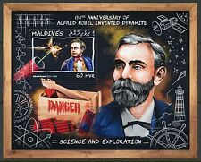MALDIVES  2017  150th ANNIVERSARY OF DYNAMITE BY ALFRED NOBEL S/SHEET MINT NH