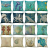 "Pattern Cushion Decor Pillow Cotton Home Octopus Linen Conch 18"" Cover Case"