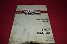 White 43 Field Boss Tractor Dealer's Shop Manual BVPA