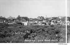 c.1940 Davis Camping York Beach Maine Tents & Trailers Original Negative & Cd