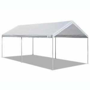 Caravan Canopy Domain 10 x 20 Foot Straight Leg Instant White Canopy Tent Set,