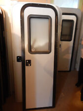 """Trailer Door, 22"""" X 72"""".  With Screen Door, Frame, Locks & Keys, Gray, #9A"""