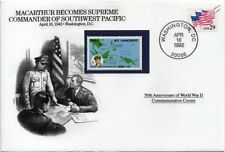 WWII 1942 MacArthur Supreme Commander SW Pacific Stamp Cover (USA/Danbury Mint)