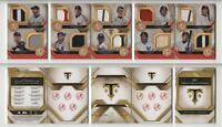 2017 Topps Triple Threads Deca Relic Combo Booklets Ruby DRCB-5 New York Yankees