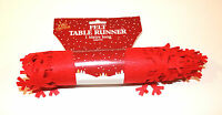 1m Felt Red Xmas Snowflake Table Runner Festive Dining Decorations Cloth Cover