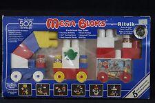 NEW IN BOX VINTAGE MEGA BLOKS RITVIK PRE SCHOOL PLAY TRAIN
