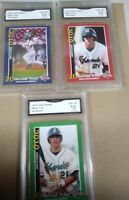 (3) Mike Trout Rc 2010  Kernels #1 #2 #3 Rookie RC SET GMA GEM MINT graded 10
