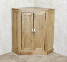 Cloakroom Corner Bathroom Vanity Unit Oak Top Cabinet | Medium Corner Storage Un