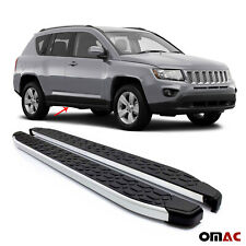 2 Pcs. Side Steps Running Boards Nerf Bars Aluminum For Jeep Compass 2007-2017