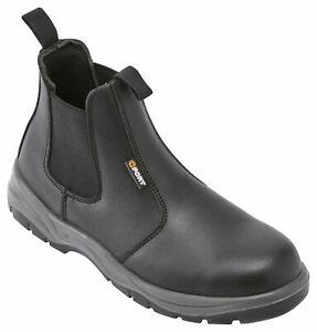 Fort Nelson Safety Dealer Work Boots Black Slip On Mens Ladies