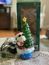 1998 Mr. Christmas Peanuts Snoopy Twirling Animated Table Piece