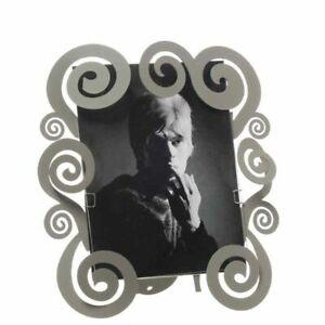 Arti e Mestieri - Cloe Portafoto decorato con riccioli in ferro di colore fango,