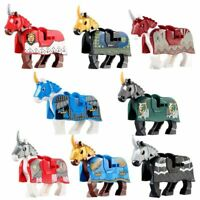 Castle Horse Medieval Armoured Knight War Custom Lego Mini Figure Wild Animal