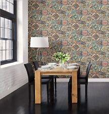 Fine Decor Reclaimed Marrakesh Tiles Multicoloured Wallpaper 10m FD22301