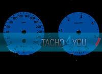 Tachoscheibe für BMW 3er E90 & 5er E60 Diesel 260 kmh km/h M3 M5 526507 Blau