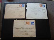 France - 3 envelopes 1938/1939/1939 (B16)