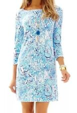 Lilly Pulitzer UPF 50+ Sophie Dress Lucky Trunks Blue And White Sz XXS