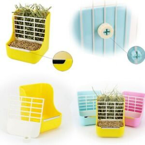 Rabbit Hay Feeder Less Wasted with Hay Rack Manger for Guinea Pig Chinchilla