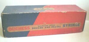 Vintage Feminine Syringe Douche & Rectal Whirling Spray Pipe Seiberling