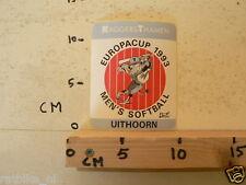 STICKER,DECAL EUROPACUP 1993 UITHOORN MEN'S SOFTBALL RAGGERSTHAMEN
