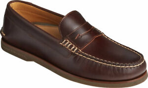NEW Mens SPERRY TOP SIDER GOLD CUP Amaretto LEATHER Penny Loafer Shoes AUTHENTIC