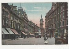 Newport Commercial Street & Town Hall 1907 Postcard 383a