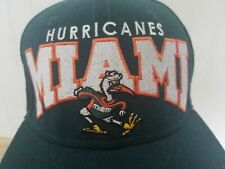 Vintage New Era Miami Hurricanes 9FIFTY Fitted 7 1/4 sebastian 90's canes frat D