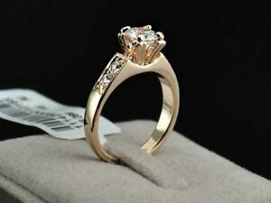 Dress Eternity Engagement RING 18K Rose Gold Plated Cubic Zirconia + Free Gift