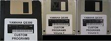 Yamaha QS300 Synthesizer Custom Programs 3 Volume Package
