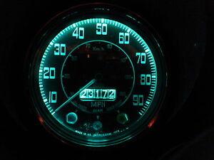 Citroen 2CV 2 CV 540 T10 MES 5 LED Dash Instrument Green SMD Bulb Upgrade x2