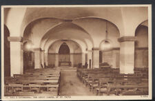 London Postcard - St Paul's Cathedral - The Crypt Chapel of St Faith    RS8940