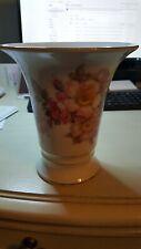 Schumann Arzberg Germany  Wild Rose Golden Crown Vase