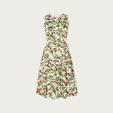 L.K.Bennett Jesse Cherry Print Ivory Cotton Midi Dress
