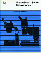 Complete Set of Service/Parts Manuals Leica Bausch & Lomb StereoZoom Microscopes