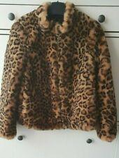 Zara Faux Fur Leopard Print Jacket /Coat AW18/19 BNWT SIZE  XS UK 6-8